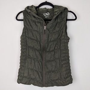 Be by Blanc Noir Olive Green Hooded Vest